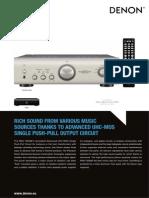 Denon PMA-1520AE Productinfo PDF En