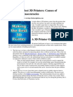 Making the Best 3D Printers- Causes of Fabrication Inaccuracies