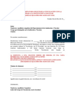 Carta Modelo Para Solicitar La Vinculacion