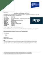HWU Confirmation Letter