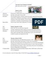 Irish Studies Program - Events Calendar
