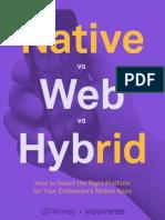 Kinvey Native vs Web vs Hybrid