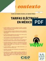 Tarifas Electricas Mexico