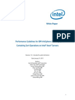 11TB01_Performance Guidelines for IBM InfoSphere DataStage Jobs Containing Sort Operations on Intel Xeon-Final