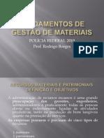 FUNDAMENTOS DE GESTÃO DE MATERIAIS - PARTE I