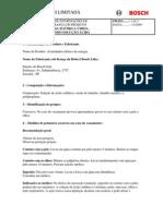 Bateria - Ficha de Seguranca FISPQ