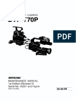 SONY BVP-T70 Maintenance Manual 252699A