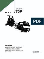 SONY BVP-T70 Maintenance Manual 252699A