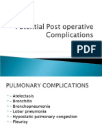 Potential Post Operative Complications