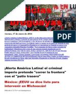Noticias Uruguayas Viernes 17 de Enero Del 2014