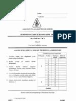 Paper 2 Johor Spm 09 Maths