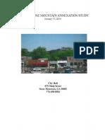 Stone Mountain Annexation Feasibility Study, January 17, 2014