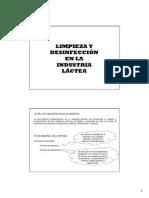Limpieza y Desinfeccion en La Ind Lactea