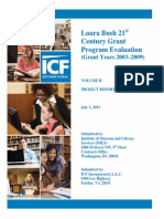 Laura Bush 21st  Century Grant Program Evaluation  (Grant Years 2003–2009) Vol. I