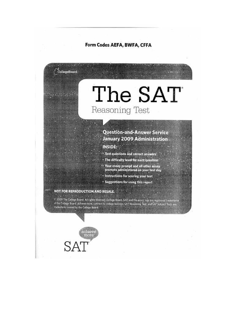 Do SAT scores determine one's intelligence/skill?
