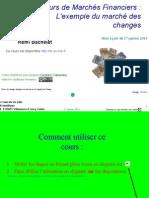 Marches Financiers - L'Exemple Du Marche Des Changes