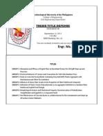 Title Defense Invitation