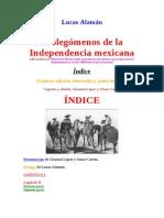 Alaman Lucas - Prolegomenos Independencia Mexicana