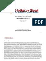 Sample Olympic Distance Triathlon Training Plan