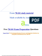 18234351 Exam 70241 Preparation Questions
