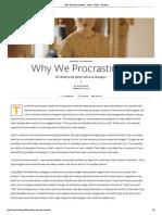 Why We Procrastinate - Issue 9_ Time - Nautilus