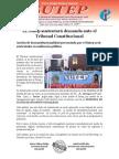 SUSTENTACIÓN ORAL DEL  SUTEP EN AUDIENCIA PÚBLICA ANTE EL TC