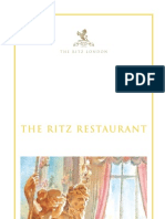 The Ritz London - Restaurant Menu 2009