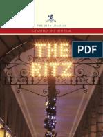 The Ritz London - Christmas 2009 Dinner Menu