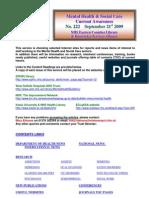 Mental Health Bulletin No 222 September 21st 2009