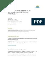 Declaracion de Necesidad de Reforma 1994