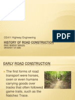 History of Road Construction