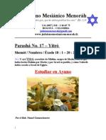 Parasha No.17 Yitro Estudiar en Ayuno