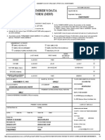 Member's Data Form (data Mdf) Print (No