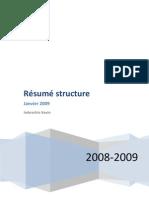 Résumé structure
