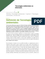 Definición de Tecnologías Ambientales en Tecnologías ambientales