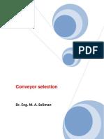 conveyor selection