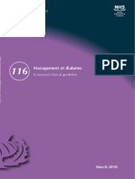 Management of Diabetes. (SIGN Guideline No 116) - Sign116