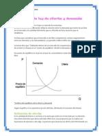 Definición de ley de oferta y demanda
