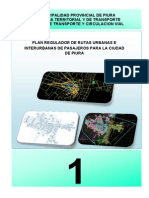 Plan Regulador de Rutas Urbanas e Interurbanas de Pasajeros Para La Ciudad de Piura