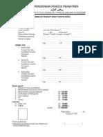 formulir santri 2013