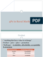 4 Ps- Rural Marketing