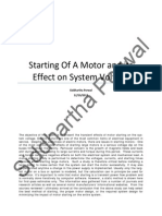 Starting Of A Motor & Its Effects on System