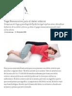 Yoga Restaurativa para el dolor crónico _ Yoga Internacional