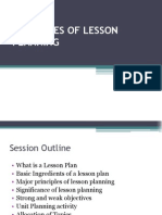 Principles of Lesson Planning