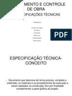 Planejamento e Controle de Obra