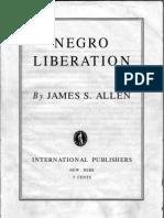 NEGRO LIBERATION - James S. Allen - 1938