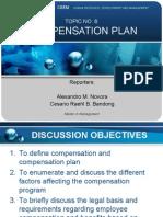 Compensation Plan Overview by Alexandro Novora & Cesario Bandong