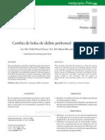 Cambio de bolsa de diálisis peritoneal