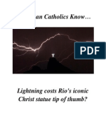 Do RCs Know Lightening Strikes Jesus in Rio?
