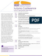 NANM Autumn Conference 2009 Agenda
